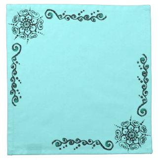 Flor del amor (alheña) (turquesa) servilletas de papel