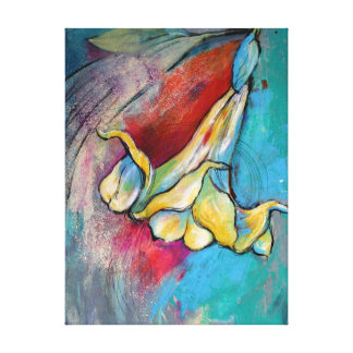 Flor del ángel lienzo envuelto para galerias