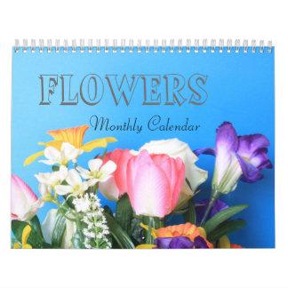Flor del año calendarios de pared