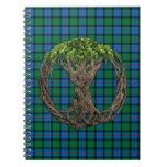 Flor del árbol céltico del tartán de Escocia de la Cuaderno