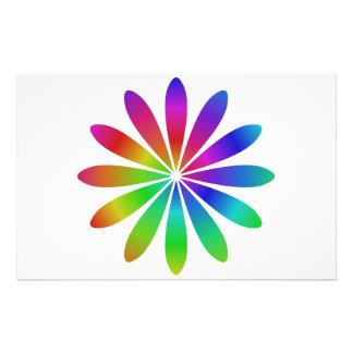 "Flor del arco iris folleto 5.5"" x 8.5"""