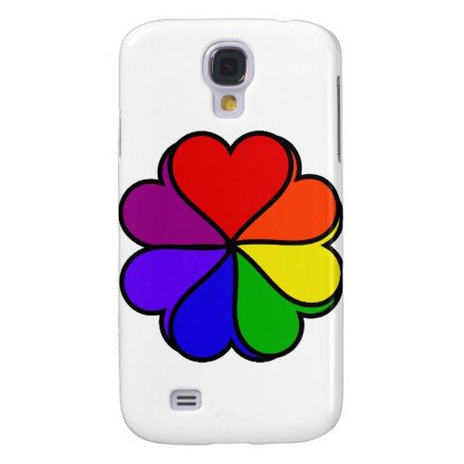Flor del arco iris funda para galaxy s4