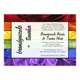 Flor del arco iris invitación 12,7 x 17,8 cm