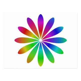 Flor del arco iris postales