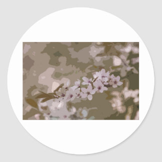 flor del arte pegatina redonda