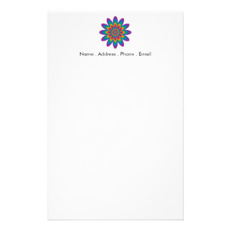Flor del arte pop papeleria personalizada