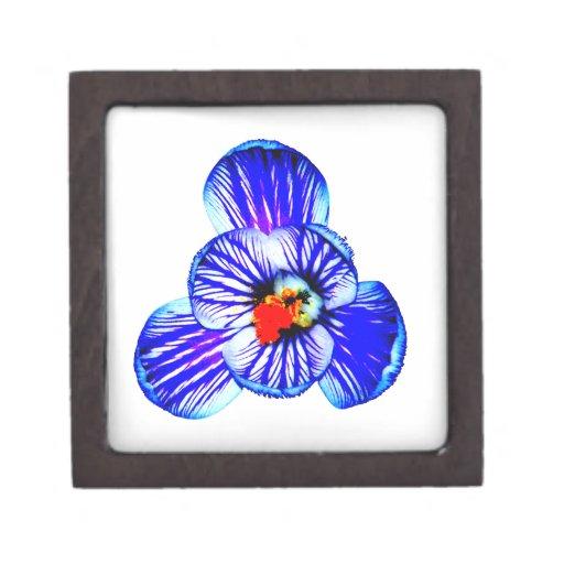 Flor del azafrán caja de joyas de calidad