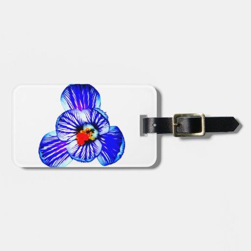 Flor del azafrán etiquetas maleta