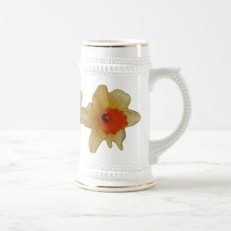 Flor del azafrán jarra de cerveza