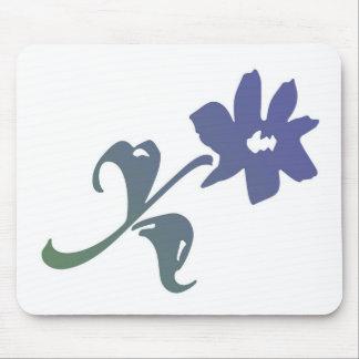 Flor del azul de Poetica Tapete De Ratones
