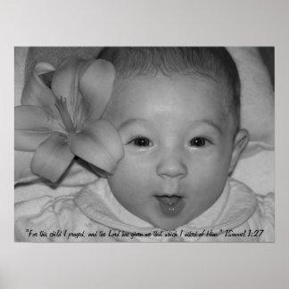 ¡Flor del bebé! Poster