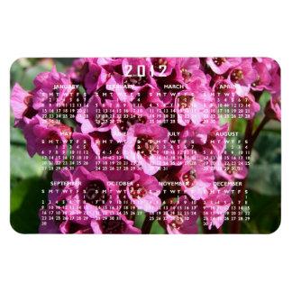 Flor del Bergenia; Calendario 2012 Imanes Rectangulares