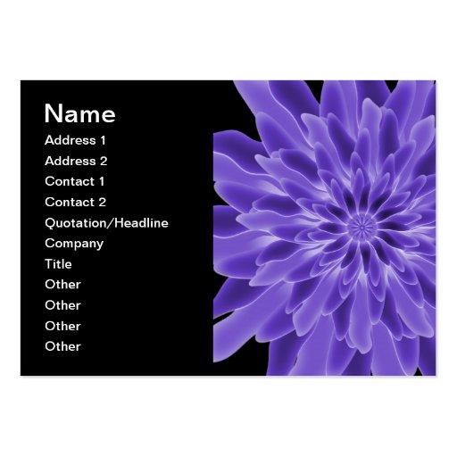 Flor del bígaro del arte abstracto tarjetas de visita