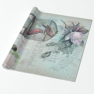 Flor del Birdcage Papel De Regalo