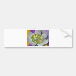flor del brillo pegatina para auto