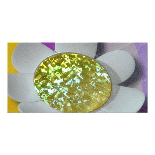 flor del brillo tarjeta fotográfica