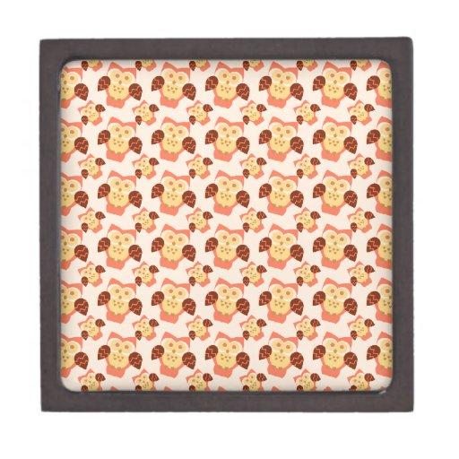 Flor del búho cajas de regalo de calidad