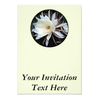 """Flor del cactus de Epiphyte Invitación 5"""" X 7"""""""
