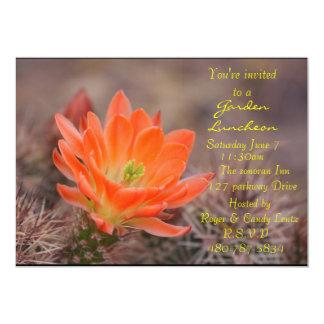 """Flor del cactus del alumerzo del jardín invitación 5"""" x 7"""""""