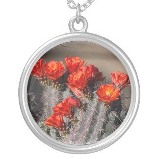 Flor del cactus del desierto colgante redondo