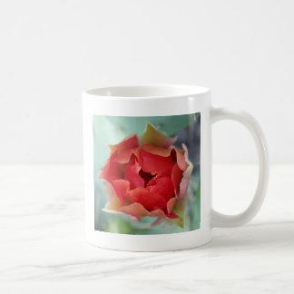 Flor del cactus del higo chumbo taza
