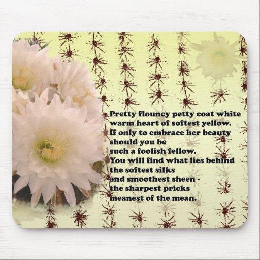Flor del cactus tapete de ratones