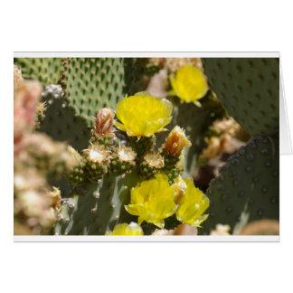 Flor del cactus tarjeta de felicitación