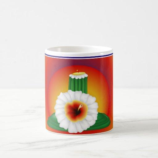 Flor del cactus taza de café