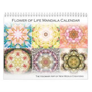 Flor del calendario 2015 de la mandala de la vida