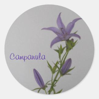 Flor del Campanula Pegatina Redonda