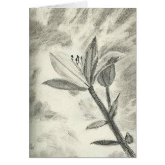 Flor del carbón de leña tarjeta de felicitación