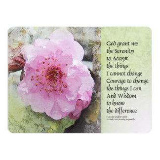 Flor del ciruelo del rezo de la serenidad invitación 16,5 x 22,2 cm