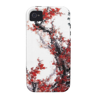 Flor del ciruelo--Pintura china Vibe iPhone 4 Carcasas