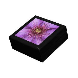 Flor del Clematis púrpura Cajas De Joyas