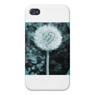 Flor del corazón del blume de Herz iPhone 4/4S Funda
