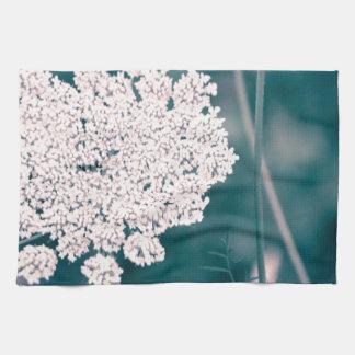 Flor del cordón de la reina Anne Toallas De Cocina