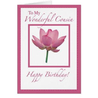 Flor del cumpleaños de 3297 primos tarjeta