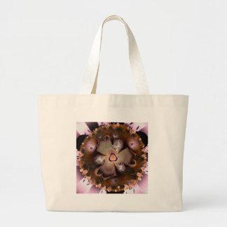 Flor del desierto bolsa tela grande