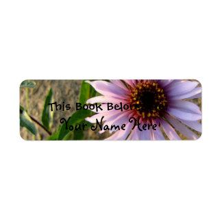 Flor del desierto etiqueta de remite