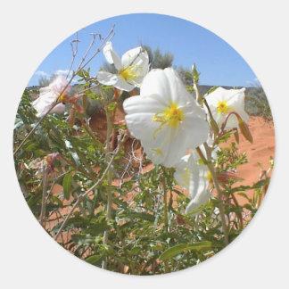 Flor del desierto pegatinas redondas