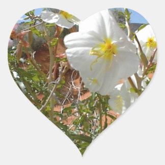 Flor del desierto pegatina corazon