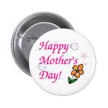 Flor del día de madres pins