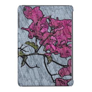 Flor del dibujo animado fundas de iPad mini