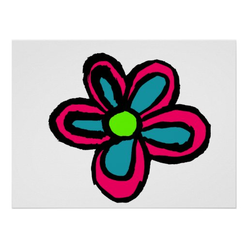 Flor del dibujo animado impresiones