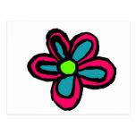 Flor del dibujo animado tarjeta postal