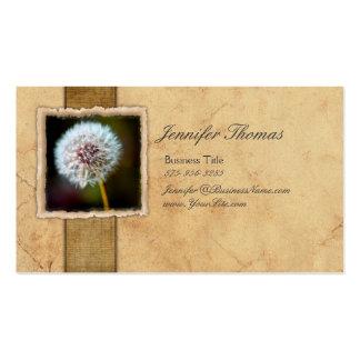 Flor del diente de león del vintage plantilla de tarjeta personal