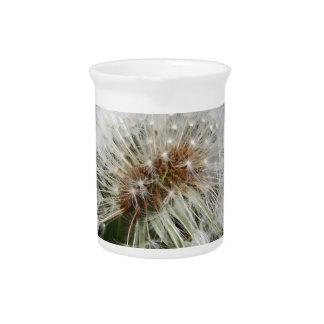 Flor del diente de león jarras