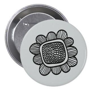 Flor del Doodle Pin Redondo 7 Cm