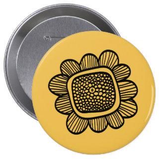 Flor del Doodle Pin Redondo 10 Cm