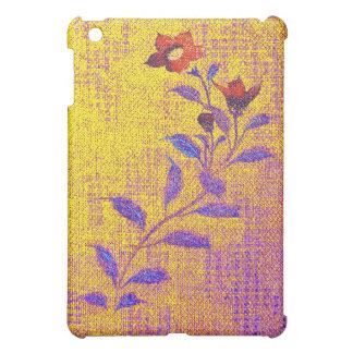 Flor del dril de algodón - oro - caso del iPad